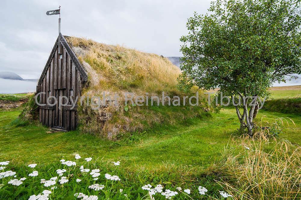 turf church at Groef, Iceland