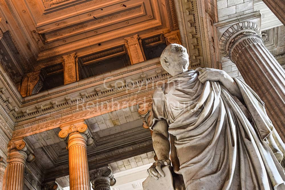 Brussels, Belgium: justice palace, vestibule, Cicero. For editorial use only.