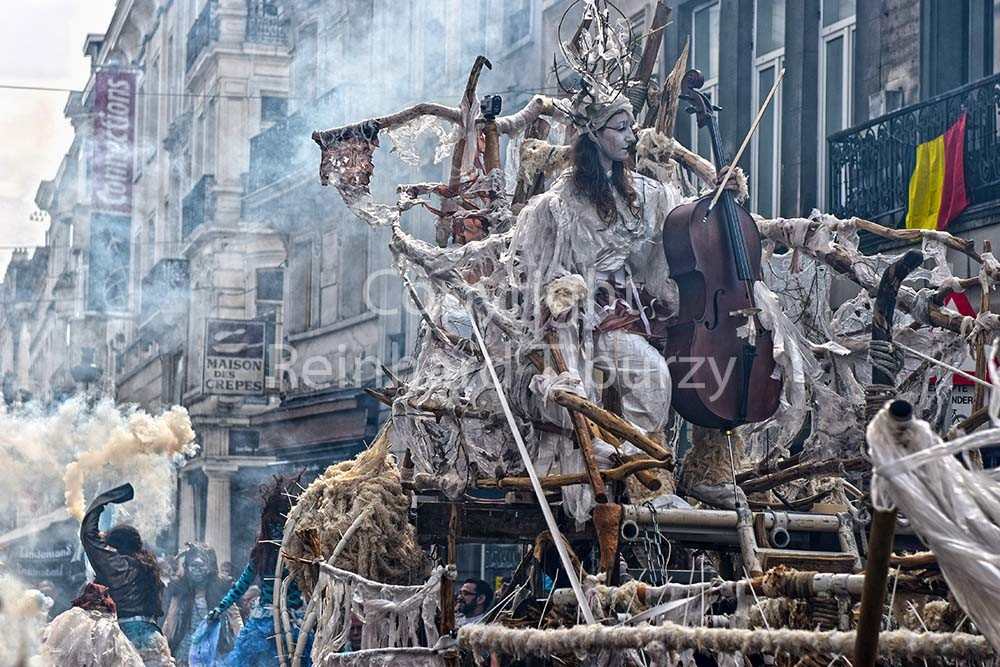 Brussels, Belgium, Zinneke parade. For editorial use only.