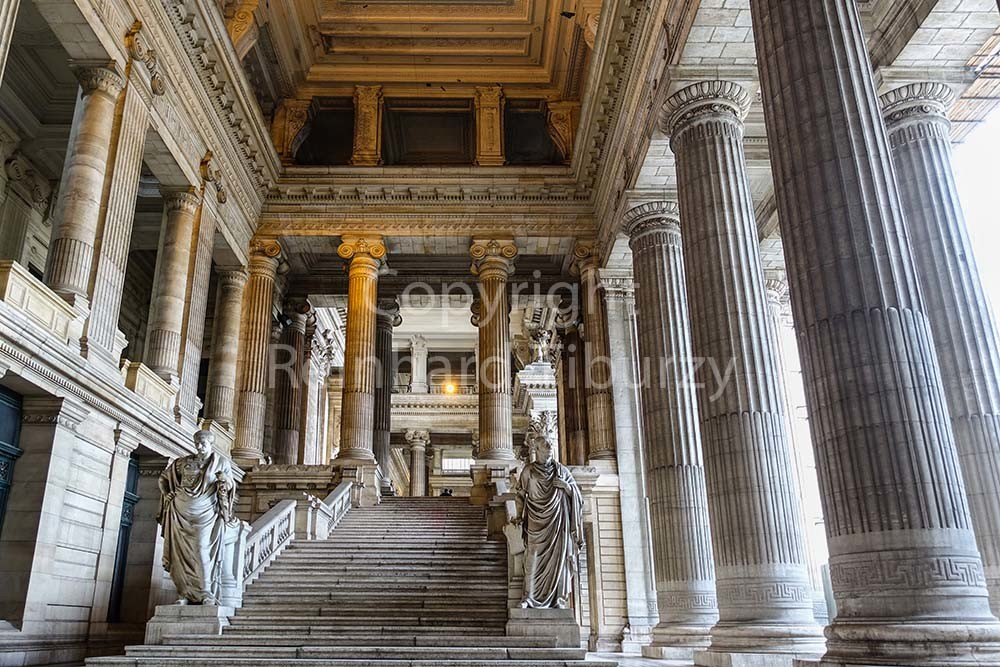Brussels, Belgium: justice palace, vestibule. For editorial use only.