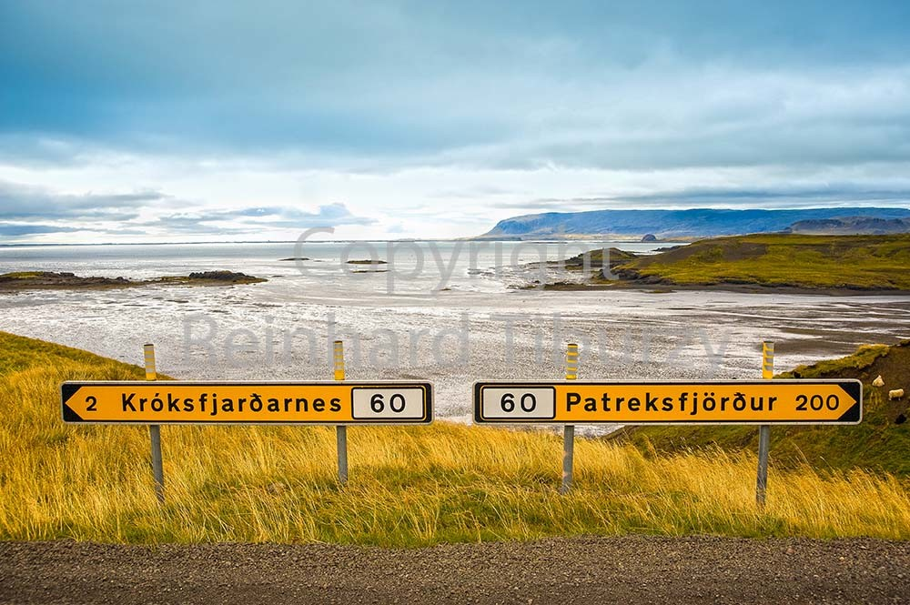Iceland, road signs