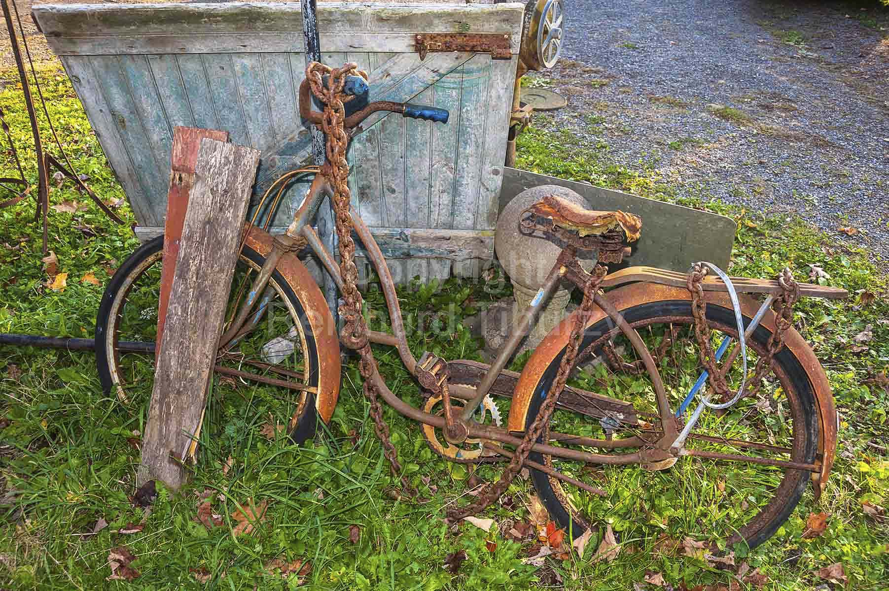 verrostet, Fahrrad, bicycle, old, rusted